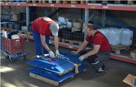 Подготовка к отгрузке автомобильных подкладных весов ИСТОК