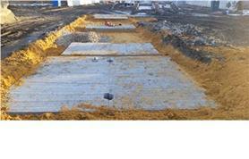 Укладка бетонных плит для установки автовесов в бесфундаментном варианте