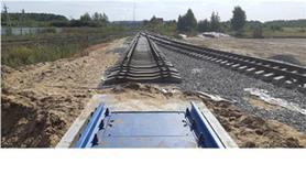 После монтажа вагонных весов необходимо установить рельсы подъездного пути