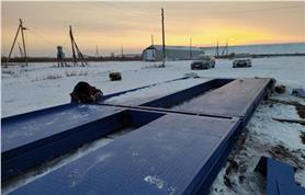 Монтаж автомобильных весов ВАЛ-80-20 в зимний период