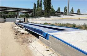 Автомобильные весы ВАЛ на бетонном фундаменте