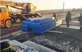 Подготовка к монтажу автомобильных весов ВАЛ 60-16 на образцовый фундамент