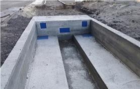 Фундамент для вагонных весов БАМ до 150 тонн