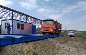 Контрольное взвешивание при пусконаладке  автомобильных весов ВАЛ (100 тонн, 24 метра)