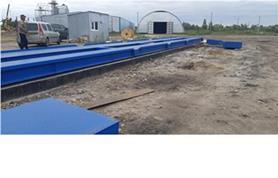 Монтаж автомобильных весов на монолитный ЖБ фундамент с металлическими въездными пандусами