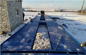 Зимний монтаж автомобильных весов ВАЛ-80-20