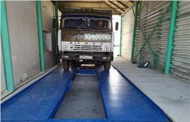 Автомобильные весы колейного типа ВАЛ-М- 80/40-20 смонтированы в бетонный приямок без разборки существующего весового ангара