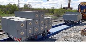 Поверка вагонных весов БАМ до 150 тонн образцовым грузом 60 тонн