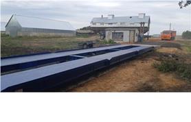 Монтаж автомобильных весов ВАЛ-60-18 (до 60 тонн, длина весовой платформы 18 метров)