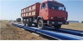 Автомобильные весы колейного типа ВАЛ-М- 80/40-24 установлены на стандартный бетонный фундамент