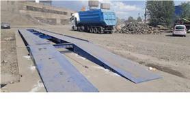 Автомобильные весы 80 тонн с металлическими пандусами на цементном заводе