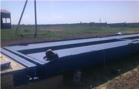 Монтажные работы на весах для грузовых автомобилей до 80 тонн (ВАЛ-80-18)