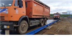 Нагружение автомобильных 80 тонн весов двумя зерновозами КАМАЗ при ежегодной поверке весов (Метод замещения)