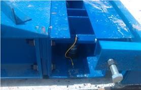 Крайняя опорная консоль с узлом регулировки автомобильных весов ВАЛ 60 тонн