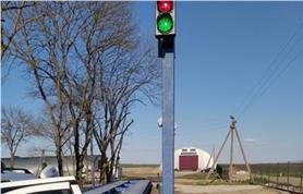 Светофор для автоматизации режима проезда автотранспорта через автовесы