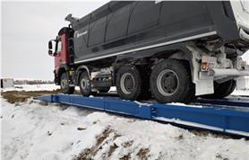Установка на дорожные плиты (бесфундаментно) и монтаж автомобильных весов ВАЛ  80-18