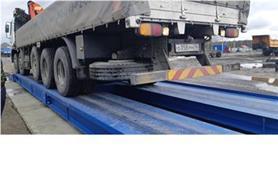 Взвешивание грузовых автомобилей на автовесах ВАЛ