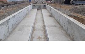 Фундамент железнодорожных весов