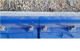 Стыковка рельс Р-65 между весовой платформой и подъездным участком на вагонных весах БАМ-150-14,5