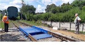 Вагонные весы потележечного взвешивания БАМ 3,5 метра, до 100 тонн установлены на щебневое основание (бесфундаментный способ)