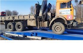Установка автомобильных весов бесфундаментным способом на дорожные плиты