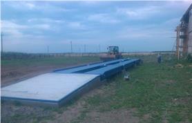 Изготовлен бетонный фундамент и смонтированны электронные автомобильные весы ВАЛ до 80 тонн