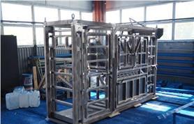 Металлоконструкция станции для фиксации и взвешивания КРС после пескоструйной обработки
