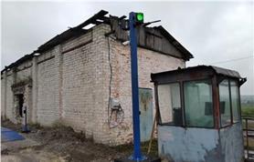 Вариант установки светофора и в.камеры на готовом бетонном основании