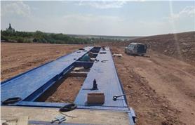 Монтаж автомобильных весов 24 метра, грузоподъемностью до 80 тонн (ВАЛ