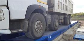 Взвешивание 100-тонного грузовика