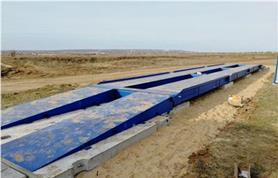 Установка автовесов ВАЛ на бетонные плиты (бесфундаментная установка)