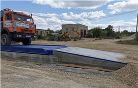 Автомобильные весы на монолитном фундаменте с бетонными съездными пандусами (самы дорогой, но и самый надежный фундамент