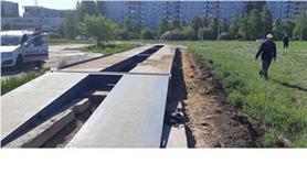 Бесфундаментная установка автомобильных весов на дорожные плиты
