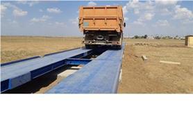 Взвешивание автомобиля на автомобильных весах 80 тонн, 24 метра (тип автовесов ВАЛ-М- 80/40-24)