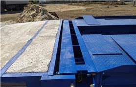 Металлоконструкция автовесов ВАЛ до 80 тонн в процессе монтажа