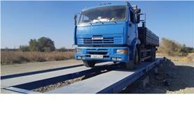 КАМАЗ на автомобильных весах ВАЛ до 60 тонн. Платформа весов 18 х 3 метра.
