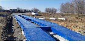 Установка автовесов на дорожные плиты (весы ВАЛ 80-18)