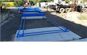 Монтаж весовых платформ бесфундаментным способом на дорожные плиты