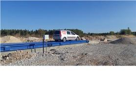 Монтаж автовесов на фундамент в виде монолитной плиты с использованием рамы для бесфундаментной установки весов (без закладных деталей)