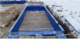 Установка основания вагонных бесфундаментных весов в котлован с обсыпкой щебнем позволяет максимально быстро ввести весы в эксплуатацию