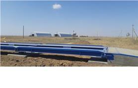 Грузоприемное устройство 80-и тонных автомобильных весов (платформа 24 метра) смонтировано на бетонный фундамент