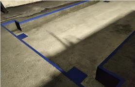 Фундамент автовесов в виде приямка для установки в уровень земли