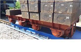 Поверка вагонных весов БАМ 150 тонн (бесфундаментная установка на щебень)