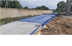 Установка автомобильных весов до 80 тонн с платформой 24 метра на объекте заказчика (Весы ВАЛ-80-24)