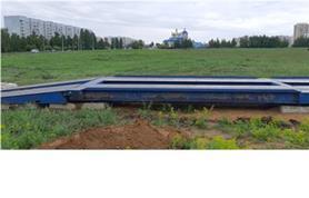 Установка автовесов на дорожные плиты (бесфундаментная установка)