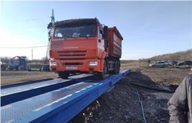 Автомобильные весы ВАЛ 80 тонн, 18 метров смонтированы у заказчика