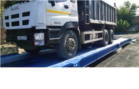 Автомобильные весы ВАЛ до 80 тонн, 18 метров  установлены бесфундаментным способом на дорожные плиты