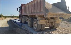 Взвешивание грузовых автомобилей на автомобильных весах ВАЛ