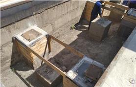 Реконструкция опорных тумб фундамента старых механических весов при модернизации