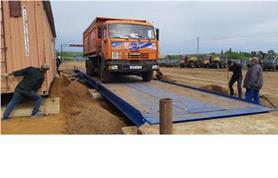 Стройка продолжается, но весы уже работают (автомобильные весы до 80 тонн, 18 метров (ВАЛ-80-18)
